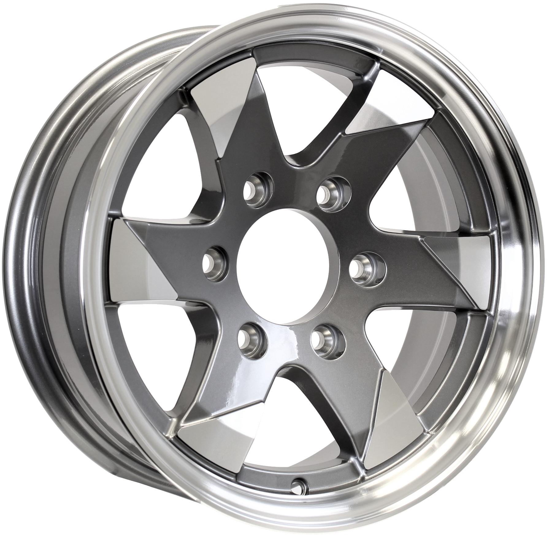 Ascent- 15x6 6-5.5 Gun Metal Aluminum Trailer Wheel Image