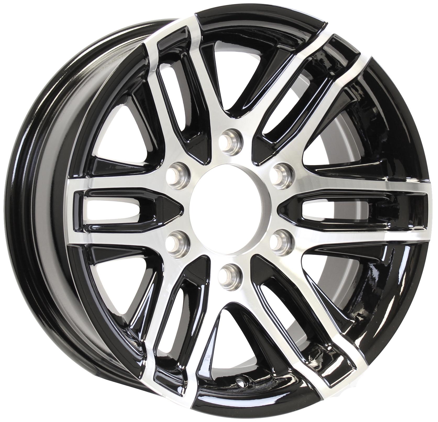 Altitude- 15x6 6-Lug Black Aluminum Trailer Wheel Image