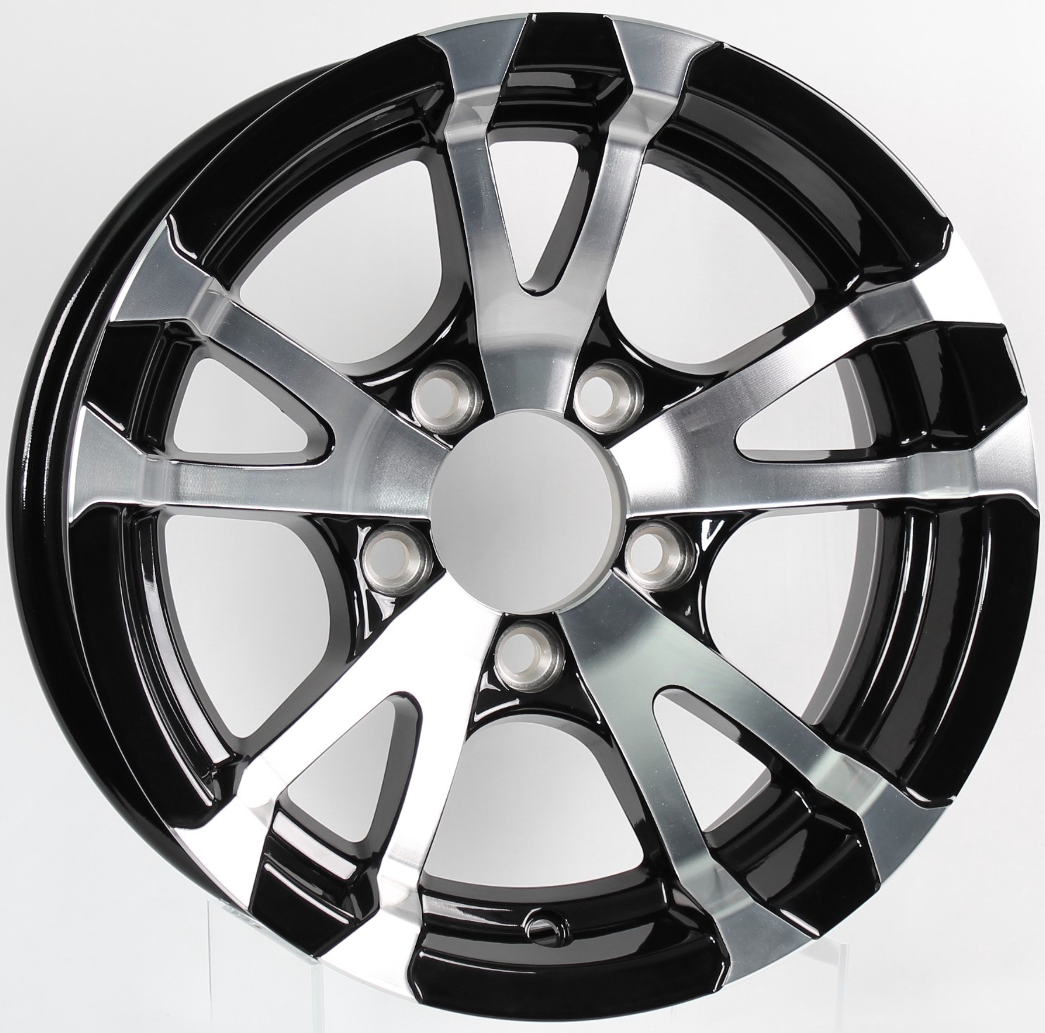 Avalanche- 13x5 5-4.5 Black Aluminum Trailer Wheel Image