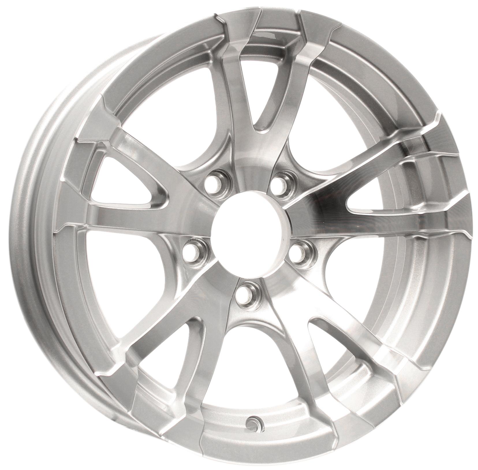 Avalanche 15x5 5-4.5 Silver Aluminum Trailer Wheel Image