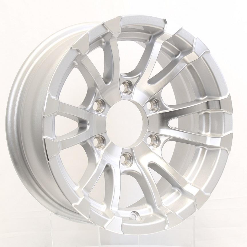 Avalanche 15x6; 6-Lug Silver Aluminum Trailer Wheel Image