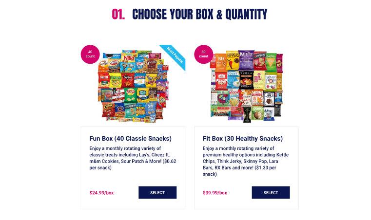 Choose Your Box & Quantity