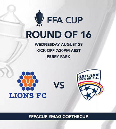 Jheison with Lions FC take on Adelaide United FC in 2018 FFA Cup Round of 16
