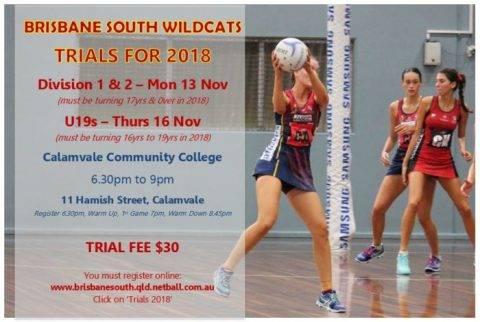 2018 Brisbane South Wildcats Trials