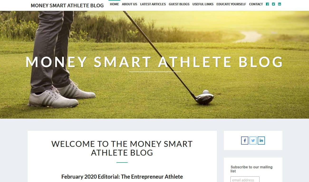 Money Smart Athlete Blog