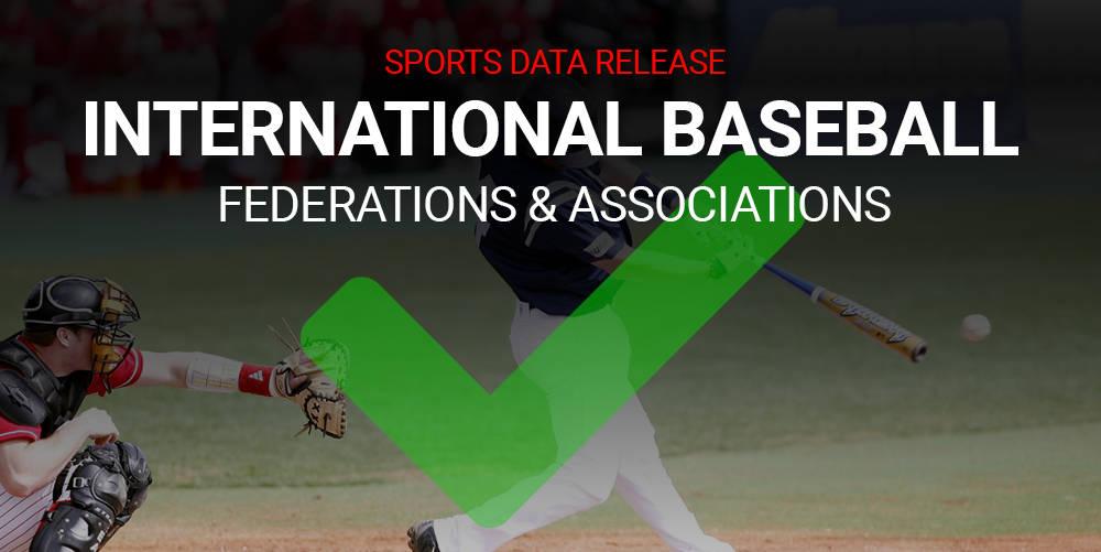 Baseball Association & Federation Global Profiles Added