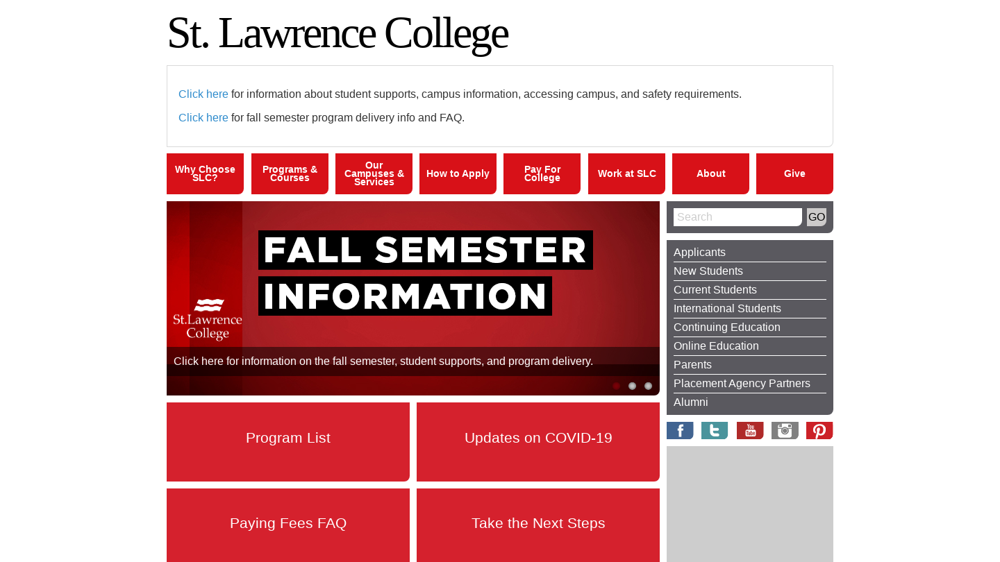 St. Lawrence College Sharks in Cornwall, Ontario