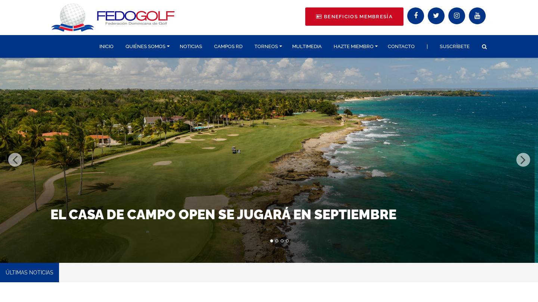 La Federación Dominicana de golf