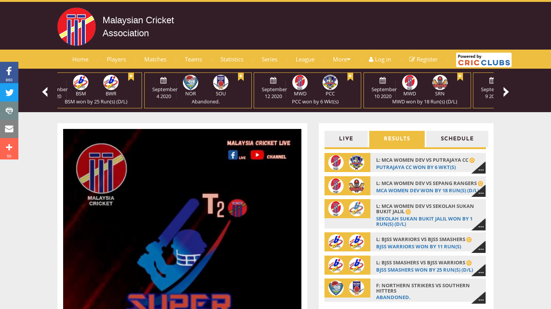 Malaysian Cricket Association