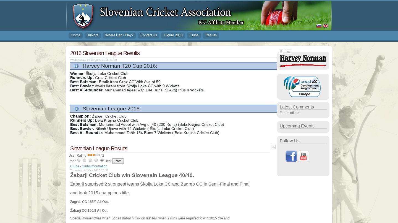 Slovenian Cricket Association