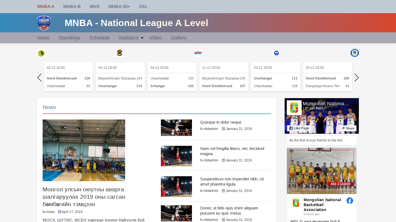 Mongolian National Basketball Association