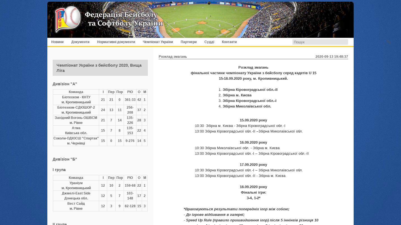 Baseball & Sotball Federation of Ukraine