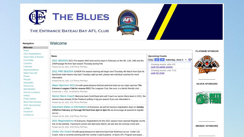 The Entrance-Bateau Bay Blues AFC