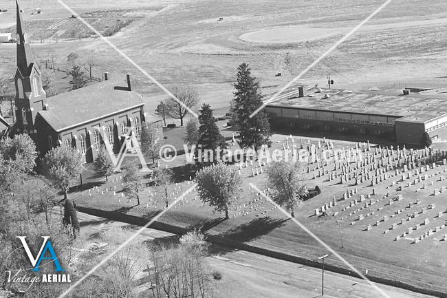 Vintage Aerial Indiana Vanderburgh County 1980 25