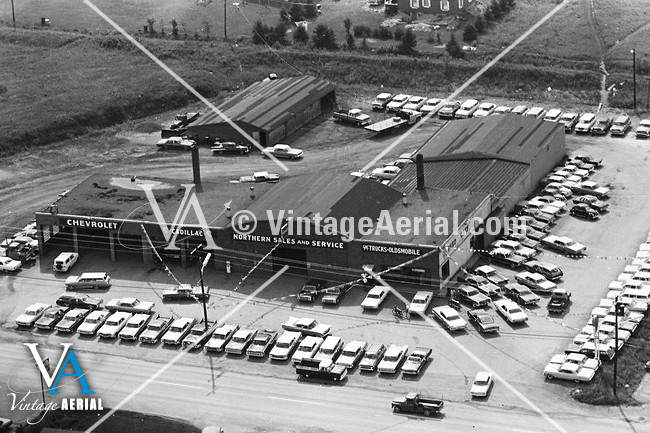 Vintage Aerial Maine Aroostook County 1965 52 Oar 18