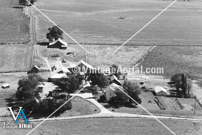 vintage aerial missouri carroll county 1981 23 dca 2. Black Bedroom Furniture Sets. Home Design Ideas