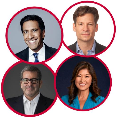 Sanjay Gupta, Richard Engel, Miles O'Brien, Juju Chang