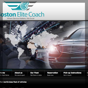 Custom Joomla Limousine website by affordable web design and seo company