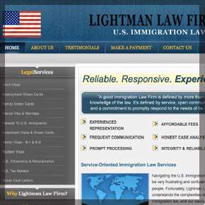 A law-firm website design by Boston Webdesign, LLC.