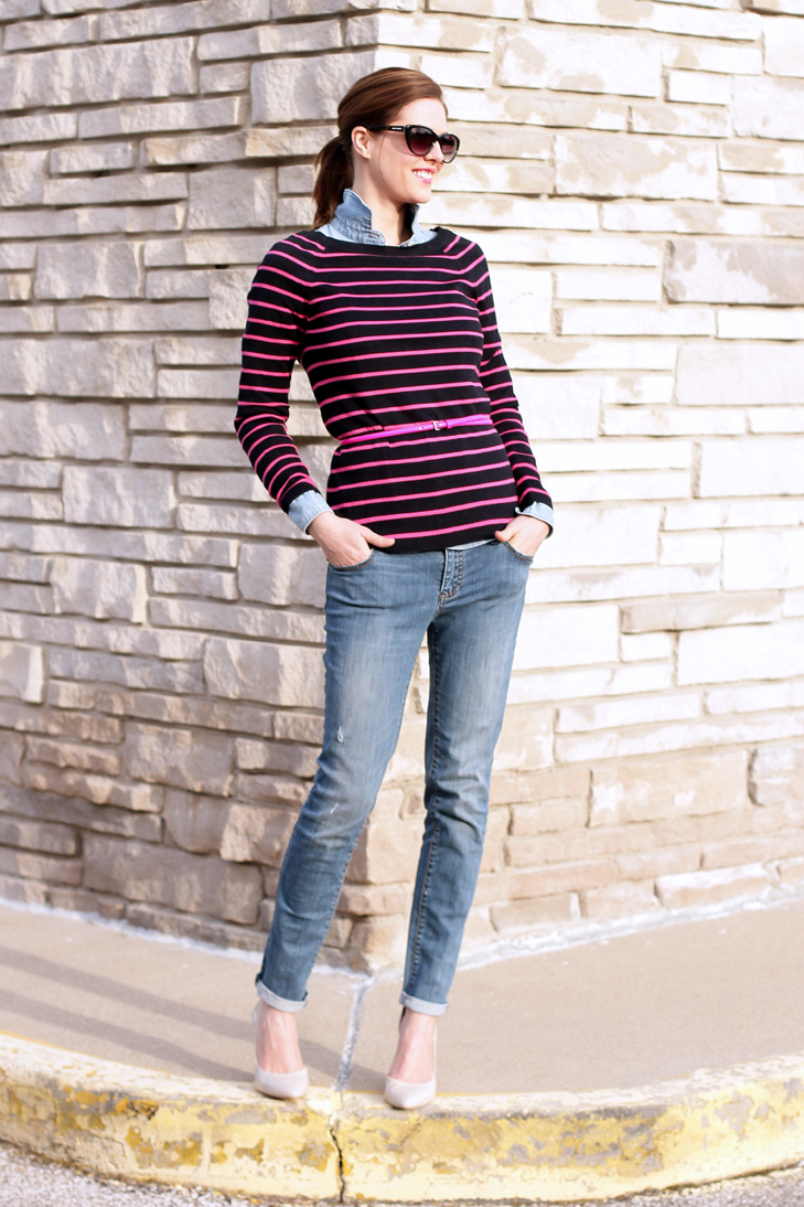 What I Wore: Stripes & Chambray, Jessica Quirk, whatiwore.tumblr.com