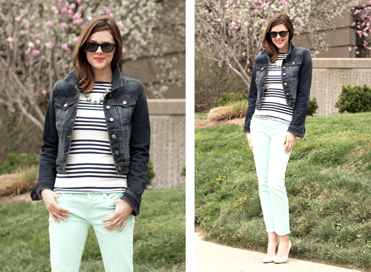 What I Wore: Three Favorites, Jessica Quirk, whatiwore.tumblr.com, Mint Jeans