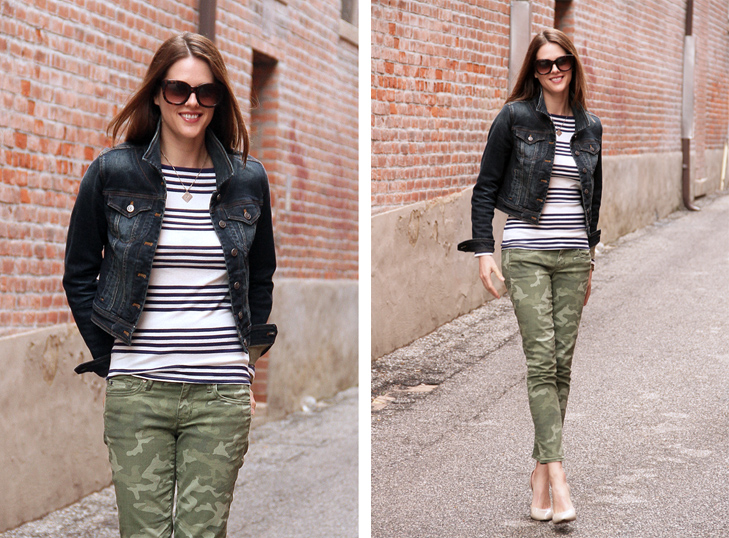 What I Wore: On Repeat, Camo, Stripes, Denim, Jessica Quirk, whatiwore.tumblr.com