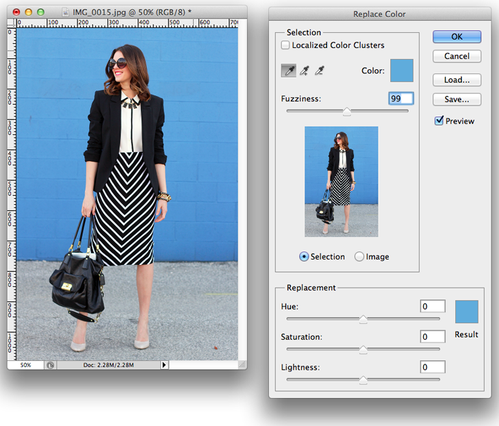 Creating Colorful Backgrounds using Photoshop via What I Wore, What I Wore, Jessica Quirk, Pro-Tips, Blogging, Fashion Blogging Tips