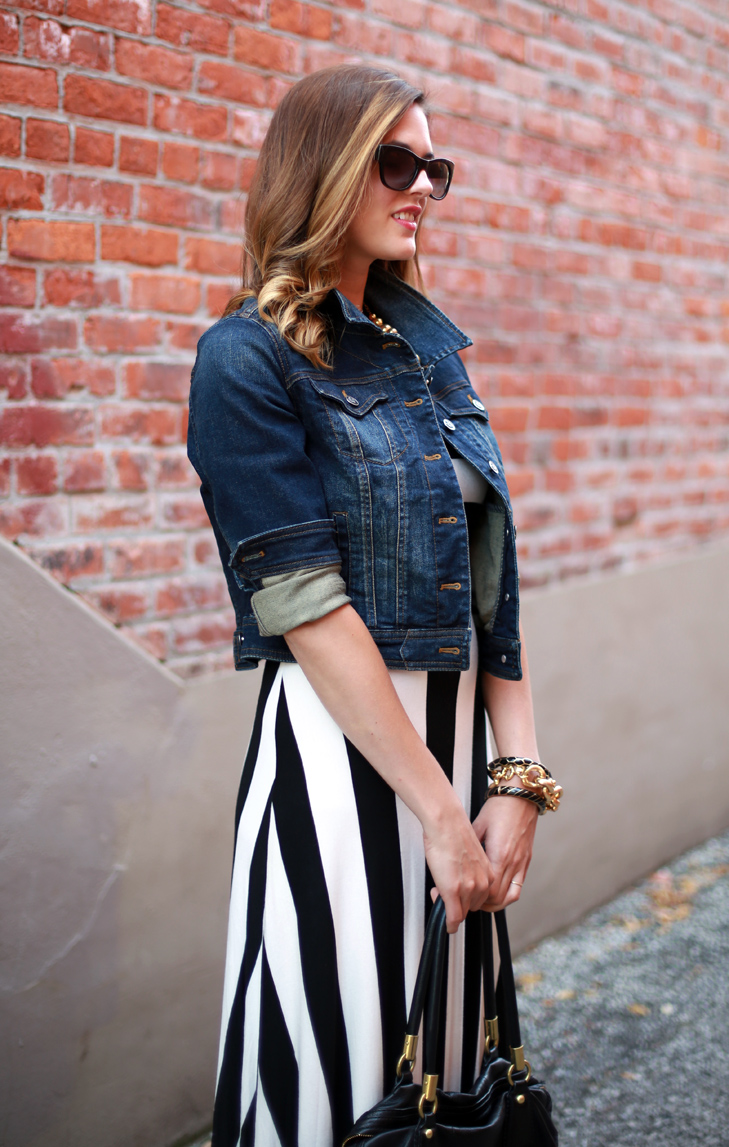 What I Wore: Denim and Stripes, Jessica Quirk, whatiwore.tumblr.com, how to roll your cuffs