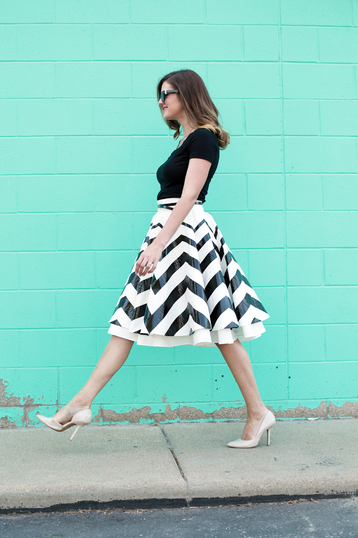 DIY your own Chevron Skirt, Make your own Chevron Skirt, How to make duct tape glam, A summer skirt with a story, Easy & Cheap ways to update your Circle Skirt