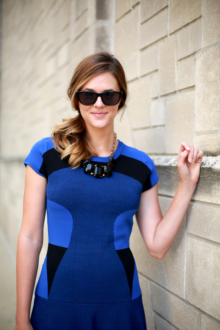 The Necessary Splurge, Date Night Dress, End of the summer transition, Bringing your wardrobe from summer to fall, How to Wear Cobalt