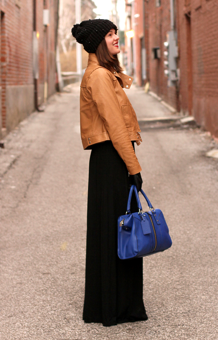 Cobalt and Caramel on What I Wore, Jessica Quirk, whatiwore.tumblr.com