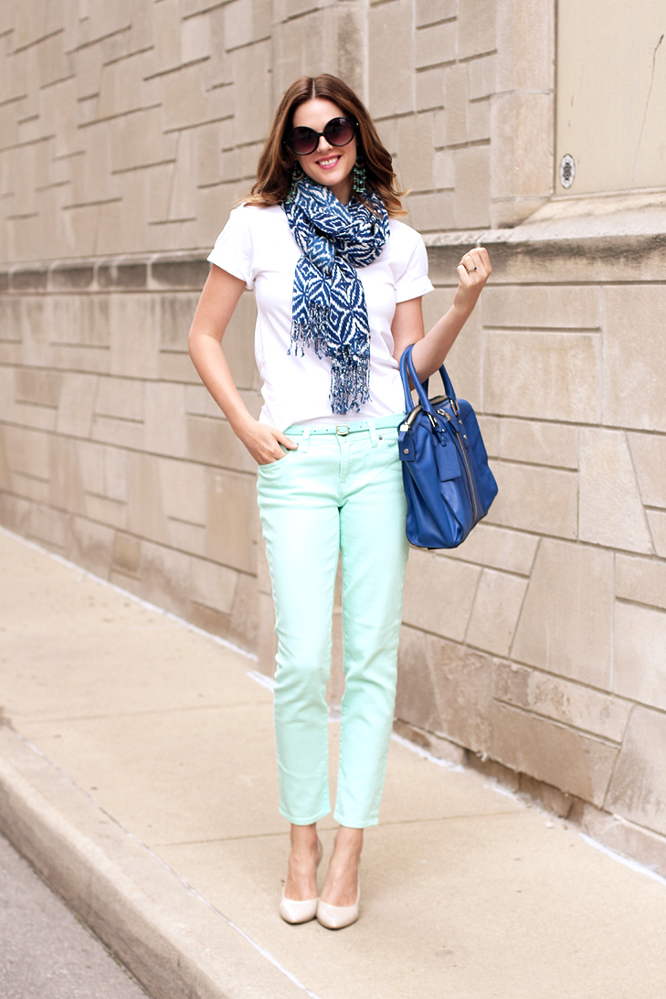 What I Wore: Cobalt and Mint, jessica Quirk, whatiwore.tumblr.com