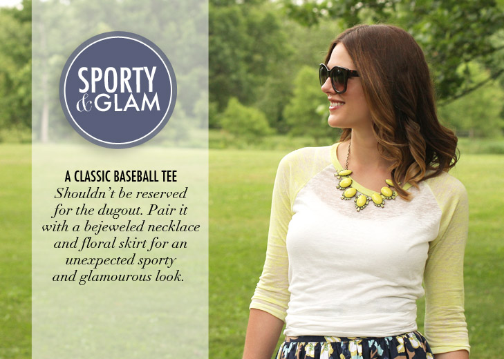 What I Wore: Sporty & Glam, Jessica Quirk, Baseball Tee, whatiwore.tumblr.com