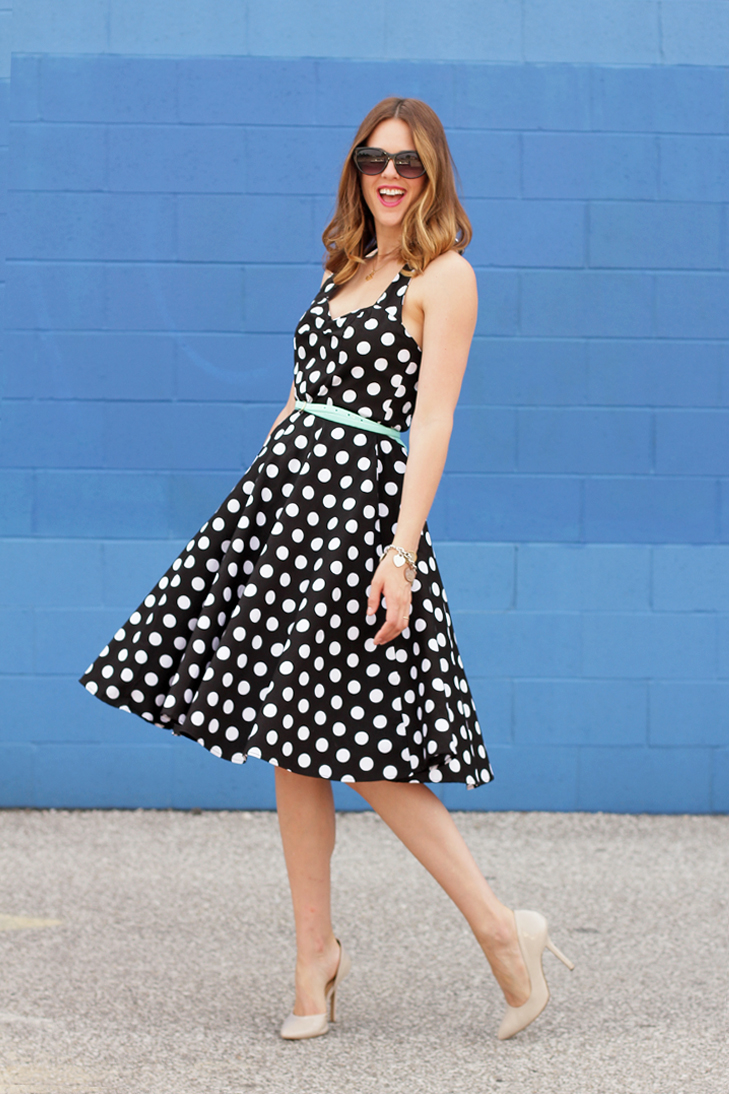 What I Wore: Radio Radio, Jessica Quirk, Black and White Polka Dots, Polka Dots, whatiwore.tumblr.com