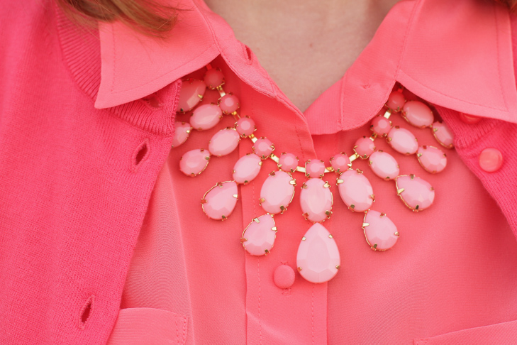 Coral on Coral on What I Wore, Jessica Quirk, whatiwore.tumblr.com,