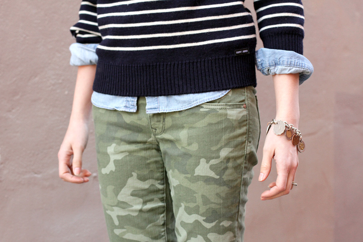 Camouflaged on What I Wore, Jessica Quirk, Camo, Stripes, Outfit Blog, whatiwore.tumblr.com