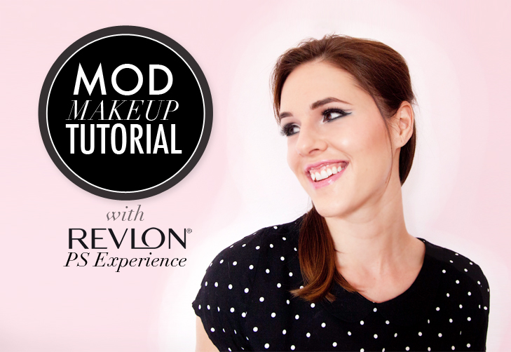 Mod Make Up Tutorial, Mod Makeup, 60s makeup, Mad Men Makeup, 1960s Makeup, Revlon, Revlon PS Experience, Jessica Quirk, What I Wore, Makeup on What i Wore, Beauty