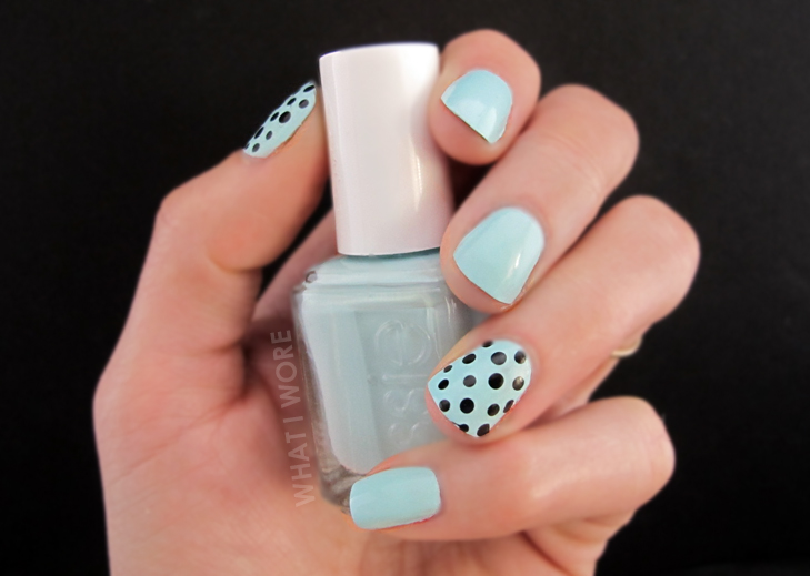 What I Wore, Mint Manicure, Dots, Mint Dots, Jessica Quirk, What i Wore, whatiwore.tumblr.com