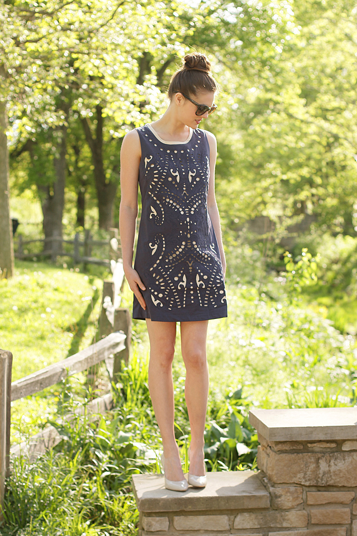 What I Wore: Modern Mod, Jessica Quirk, whatiwore.tumblr.com, eyelet dress