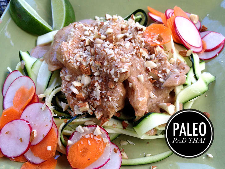 Paleo Pad Thai, Whole30 Pad Thai, Whole30 Recipe, Whole30, Pad Thai, Healthy Pad Thai, Easy Whole30