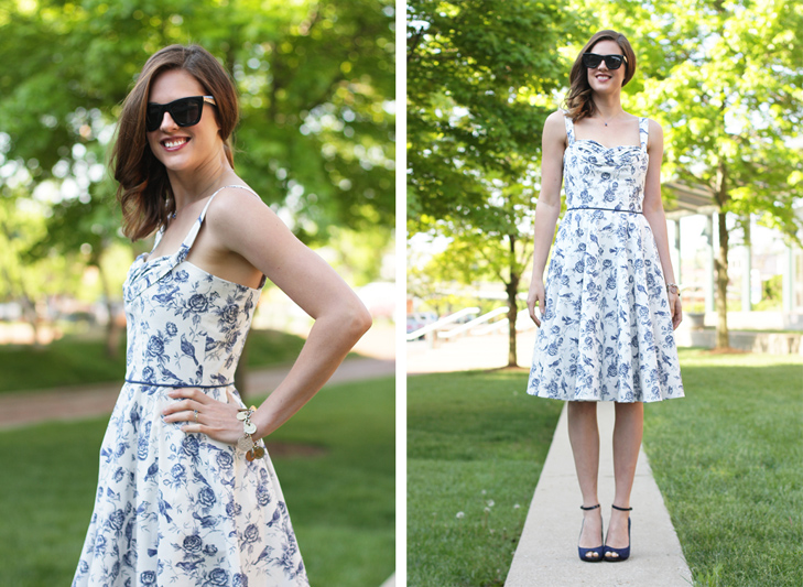 What I Wore: Vintage Toile, Jessica Quirk, Sewing, Butterick 5882, B5882, whatiwore.tumblr.com