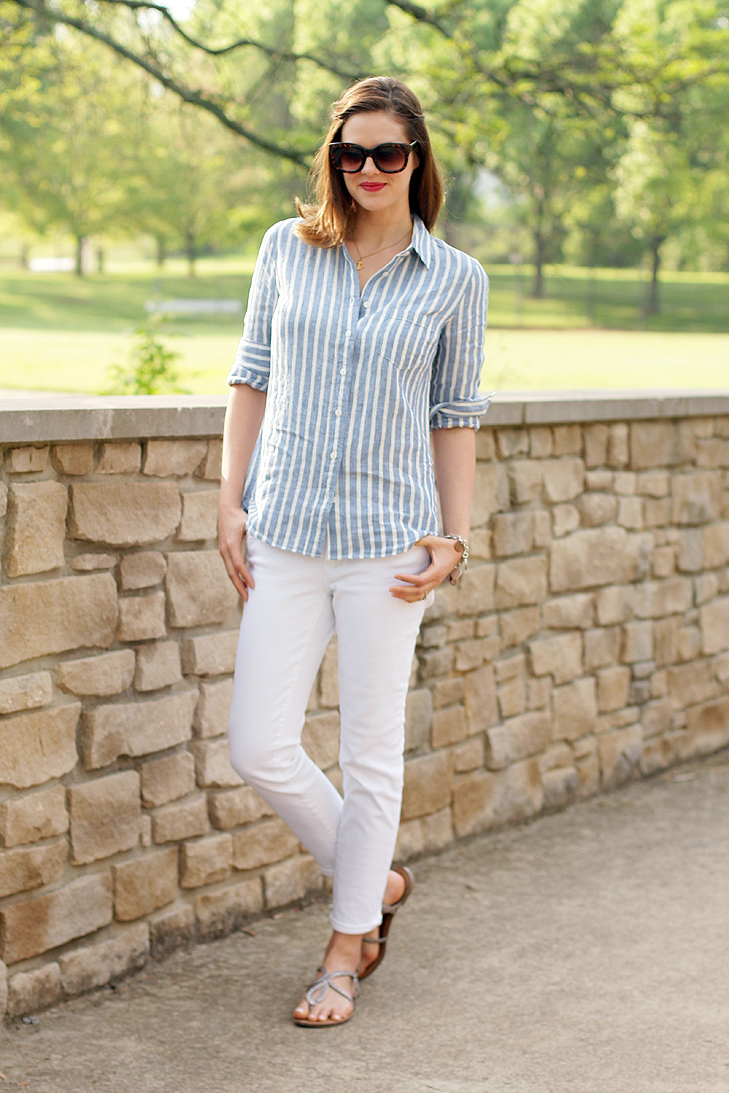 What I Wore: Spring Classic, White Jeans, Jessica Quirk, whatiwore.tumblr.com