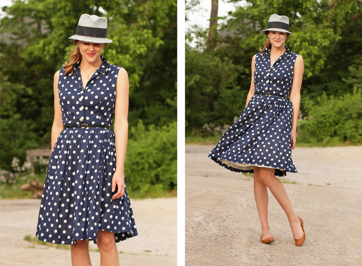 What I Wore: New Again, Jessica Quirk, whatiwore.tumblr.com, millinery, vintage, polka dots