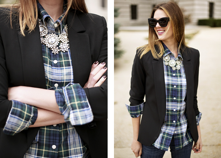 what i wore glam plaid on what i wore