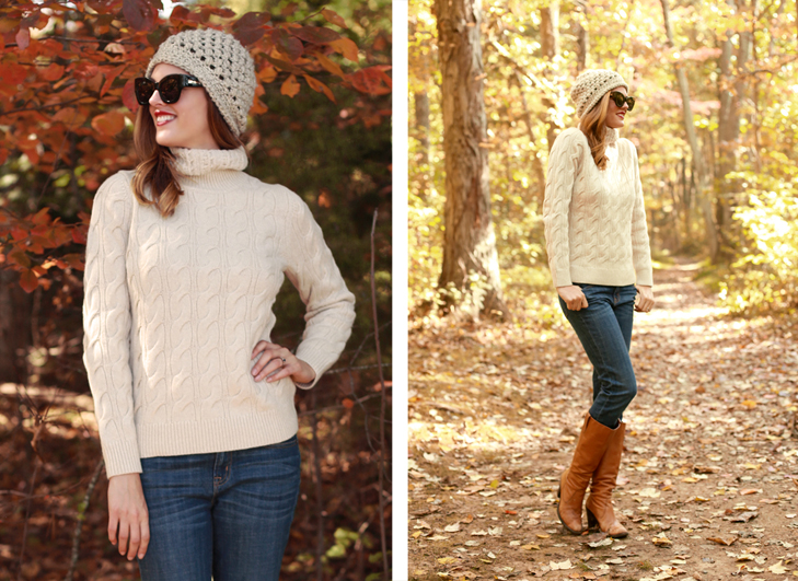 What I Wore | Into the Woods, Jessica Quirk, whatiwore.tumblr.com, fall hats, how to wear a fall beanie, DIY hats, sweater weather, fall sweaters, how to wear a fall sweater, boot weather, how to wear brown boots, fall adventures, fall camping style, how to dress up a sweater, best midwest fashion blogger