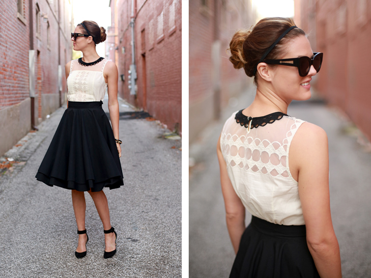 What I Wore | Luck be a Lady, Jessica Quirk, Black and White, Ladylike, whatiwore.tumblr.com