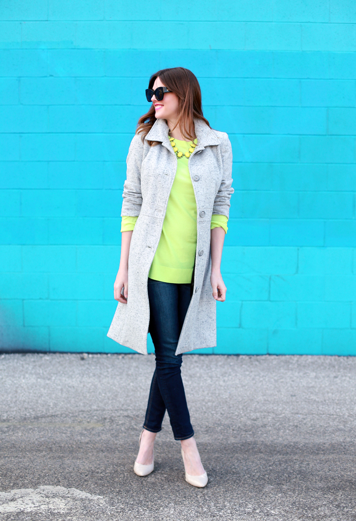 Neon Yellow, Spring, What I Wore | Hello, Spring!, @whatiwore
