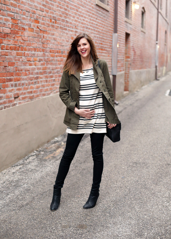 What I Wore, Maternity Style, Pregnancy Style, Stripes, Spring Transition, @whatiwore