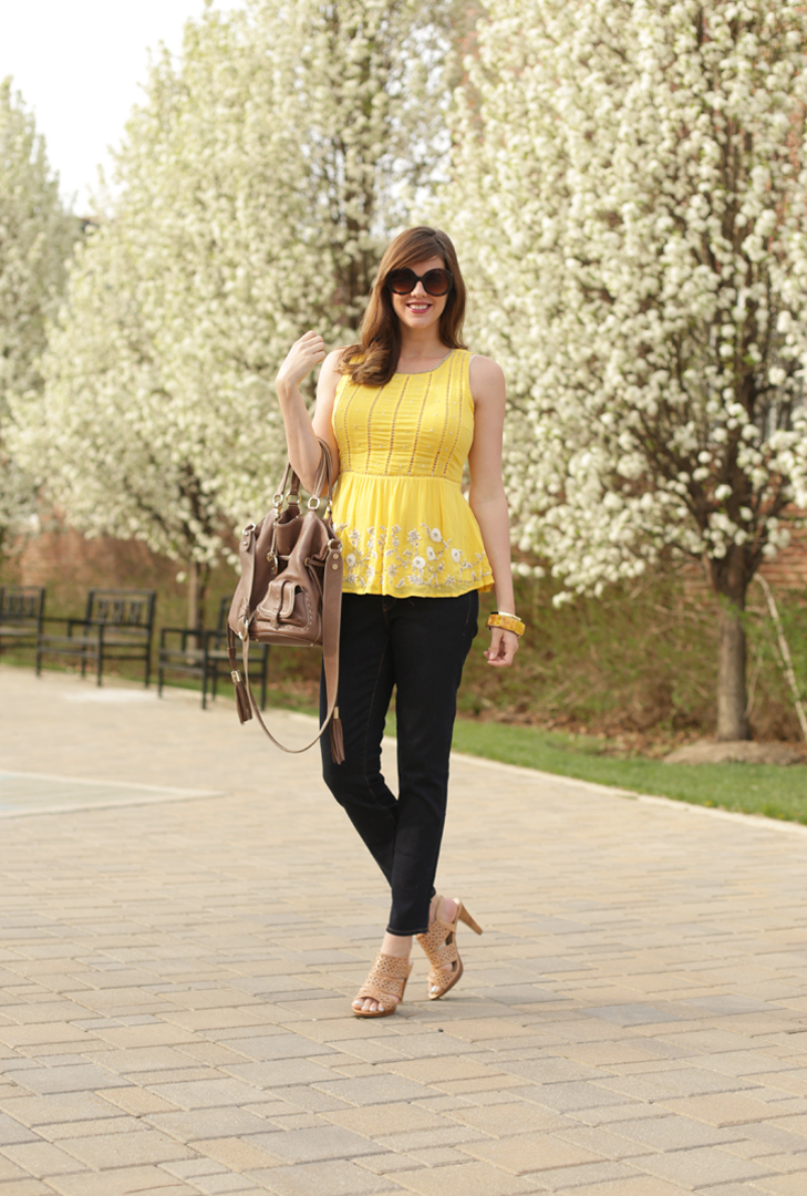 @whatiwore, 21 weeks pregnant, Maternity Style, Yellow, Spring