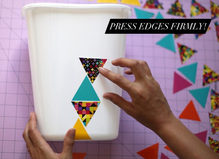 DIY Modern Triangle Trash Bin, DIY, @whatiwore